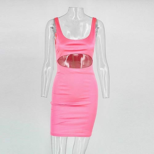 Women's Bodycon Cut Out Mini Outfit Sexy Satin Joyfunear Pink Kim Dress Birthday dwxB8RdqX