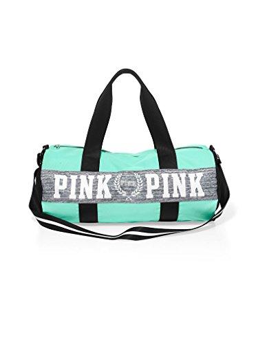 Victoria's Secret PINK Gym Duffle Tote Bag (Seafoam/Grey Marl) by Victoria's Secret