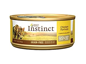 Instinct Grain Free Chicken Formula Natural Wet Canned Cat Food by Nature's Variety, 5.5 oz. Cans (Case of 12)