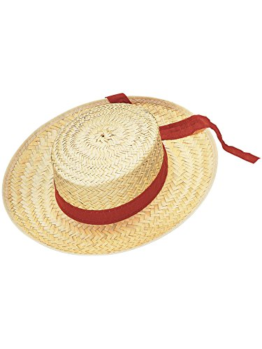Rubie's Men's Straw Gondolier Hat, Multi, One Size -