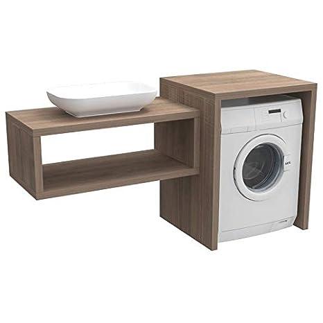 Mobile Bagno Per Lavatrice E Lavabo.Ve Ca Mobile Bagno Coprilavatrice Stoccolma Realizzato In