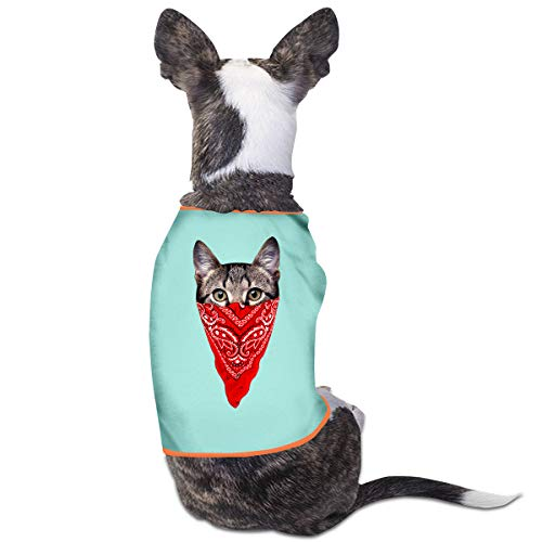 Nicokee Puppy Dogs Shirts Costume Gangster Cat Pets Clothing Warm Vest T-Shirt L]()
