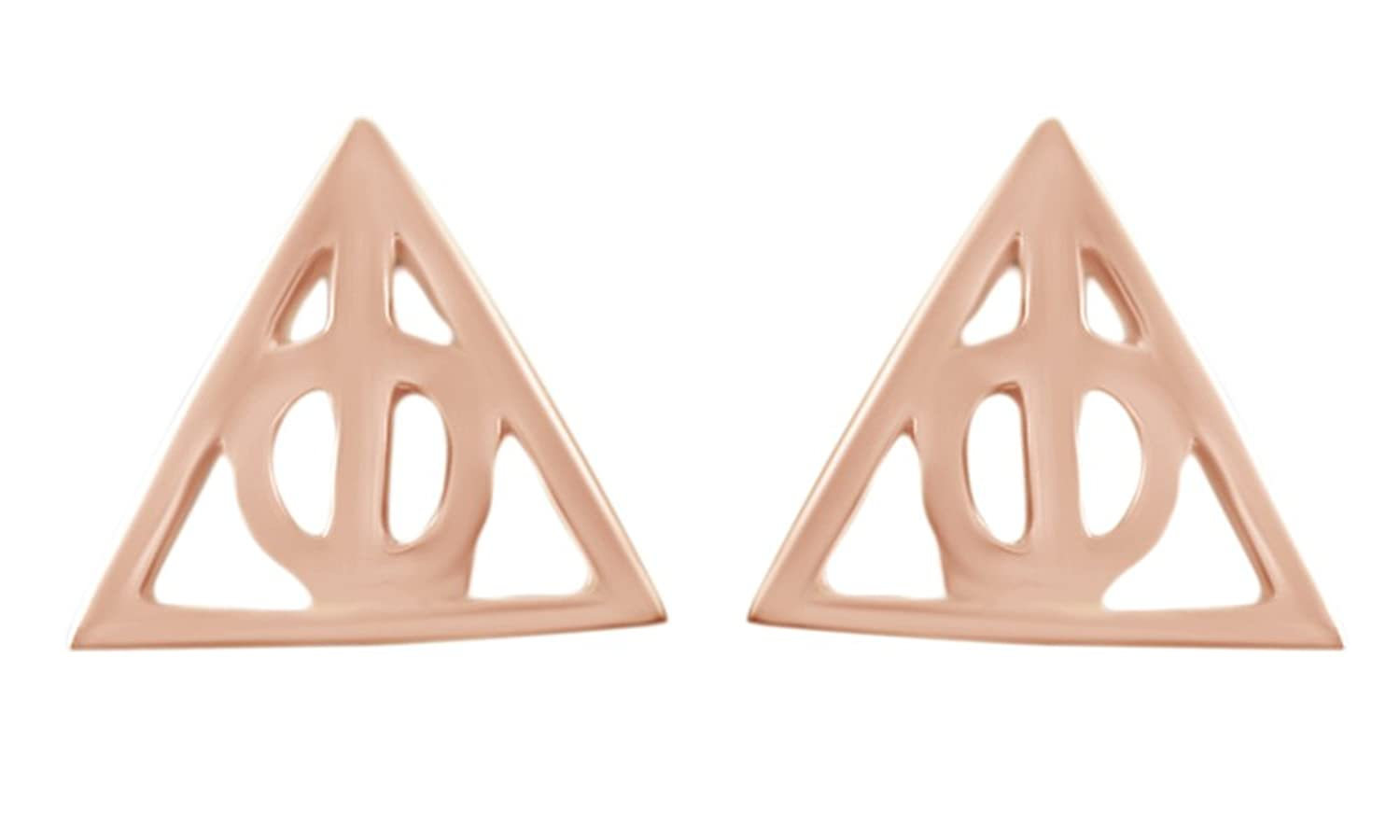 Amazon simply silver harry potter inspired deathly hallows harry potter deathly hallows stud earrings in 14k gold over sterling silver biocorpaavc