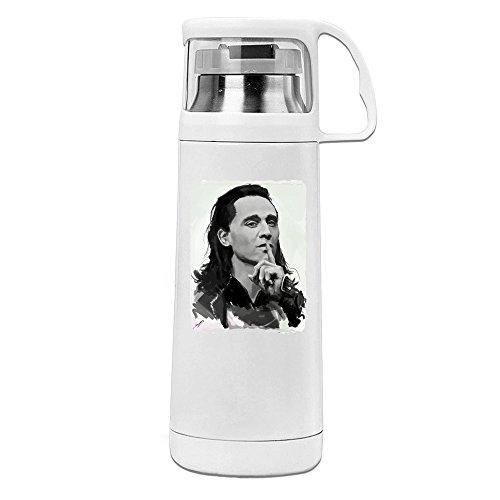 MeiXue Loki God Of Mischief Vacuum Cup Water Bottle White (Thor Baby Bottles)