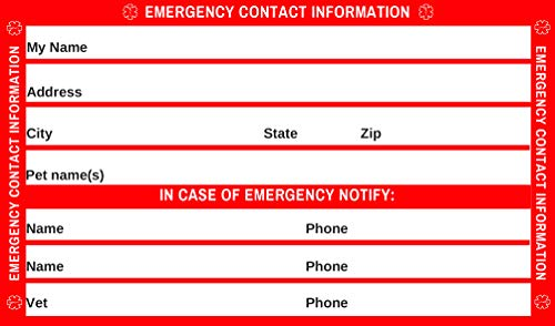 Emergency Medical Condition and Contact Wallet ID Card - with self-Laminating Wallet Pouch (Red)