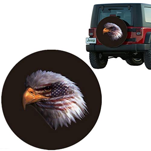 Moonet Eagle Head Spare Tire Wheel Cover Car Truck SUV Camper Fits Jeep CRV FJ Hummer Land Rover Outlander Grand Vitara Size XL R17 P265/75R16 255/75R17 255/80R1 (Diameter 31
