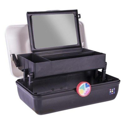 Caboodles On-the-Go Girl White Lid and Black Base Vintage Case, 1 Pound