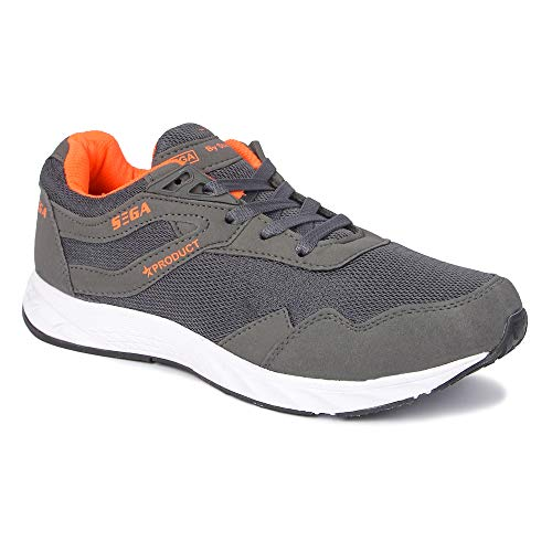SEGA Men's Grey Mesh Running/Jogging/Gym/Walking/Trekking Indoor and Outdoor Sports Shoes Price & Reviews