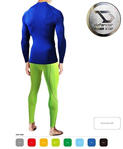 Defender Men's Compression Baselayer Pants Legging Shorts Tights Running Y_M