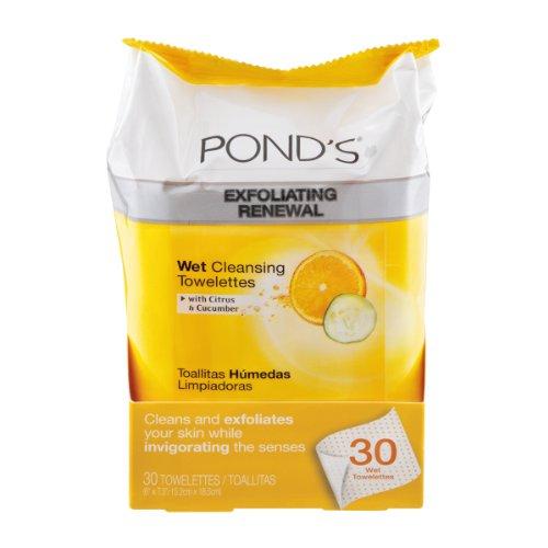 Amazon.com: Ponds Exfoliating Renewal Towelettes Citrus & Cucumber , 30 CT (Pack of 3): Beauty