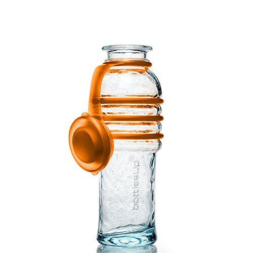 Bottles Up 16OZ Glass Water Bottle - Orange #16-ORG