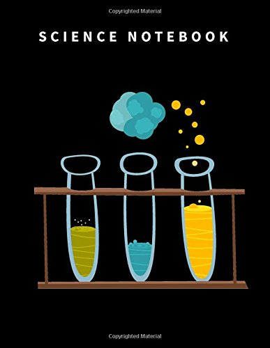 Science Notebook: 110 Blank and Lined pages, Large (8.5 x 11) inches and White Paper