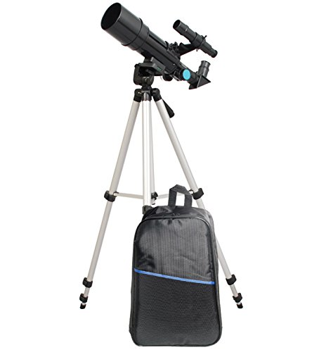 TwinStar 60mm Compact Refractor Telescope Backpack Bundle - Black by Twin Star
