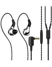 $39 » BLON 03 in Ear Earphone,10mm Carbon Diaphragm Dynamic Drive in Ear Earphone, Metal Shell Bass HiFi DJ in Ear Monitor,in Ear Headphone with 2pin Detachable Cable with Mic Earphone(Silve with Mic)