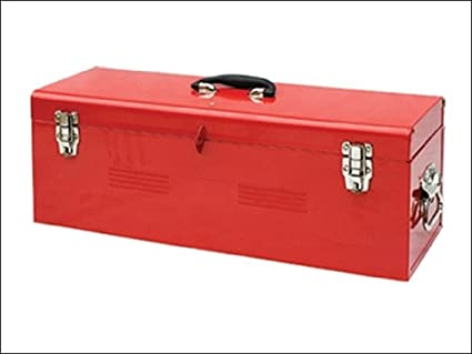 Faithfull TBP140C caja de herramientas metálica y bandeja porta 67 cm (tbp-140-