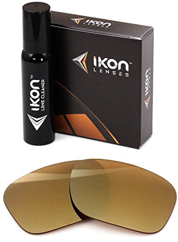 Polarized Ikon Iridium Replacement Lenses for Oakley Enduro Sunglasses - 24K Gold Mirror