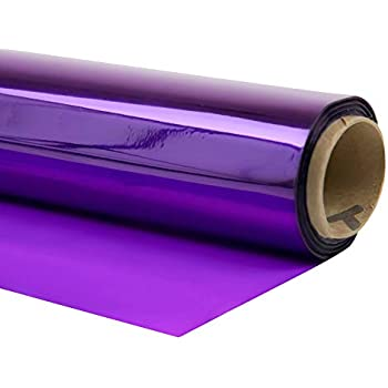 Purple 40 x 30 Amscan Colored Cellophane Sheets Party Gift Supplies Cellophane Wrap