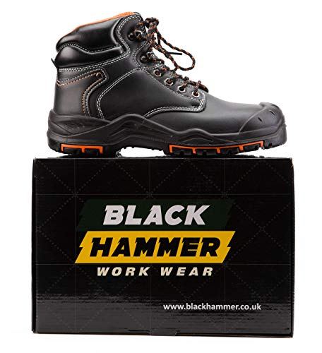 Sécurité Montantes Acier Black De Chaussures À Hammer Cuir Src Travail Embout 9972 S3 Bottes En COtBxqO