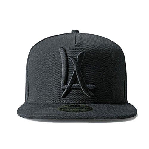 (LEEYA N10 Punk Hip-Hop Baseball cap Flat-brimmed hat unisex (black))