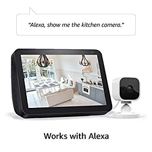 Introducing Blink Mini – Compact indoor plug-in smart security camera, 1080 HD video, motion detection, Works with Alexa – 2 cameras (Color: WHITE)