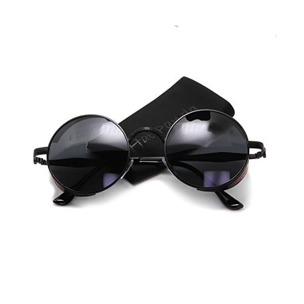 Polarized Round Retro Sunglasses Gothic Steampunk Sunglasses For Men And Women 4