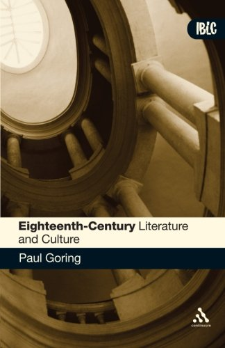 Read Online Eighteenth-Century Literature and Culture (Introductions to British Literature and Culture) pdf