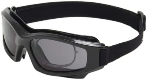 5b77faaad5a Edge Eyewear HS116 Speke Low Profile with Rx Insert Goggle with Smoke Lens  - Safety Goggles - Amazon.com