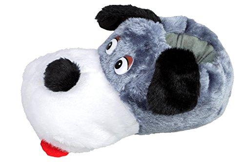 GIBRA® Tierhausschuhe Hund Hausschuhe, grau, Gr. 36-41 Grau