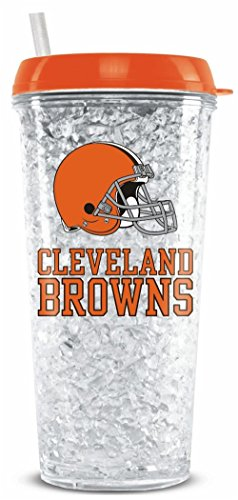 (Cleveland Browns Crystal Freezer Travel Tumbler)