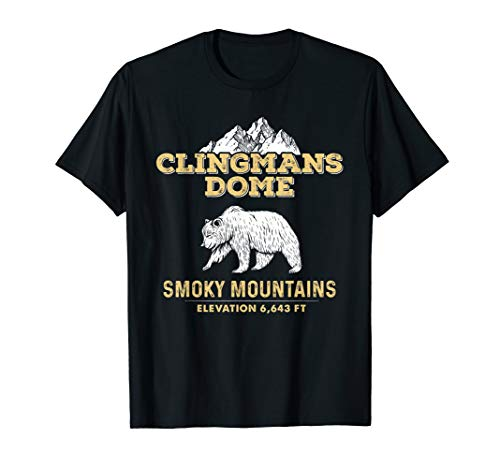 Clingmans Dome - Clingmans Dome Great Smoky Mountains Tennessee Bear T-Shirt