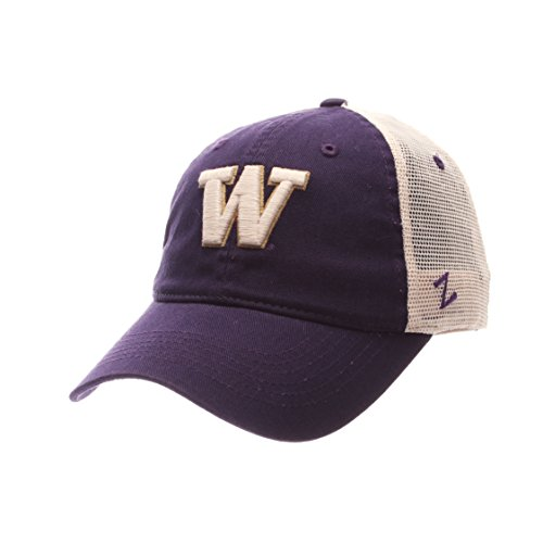 NCAA Washington Huskies Adult Men University Relaxed Cap, Adjustable, Team Color/Stone ()