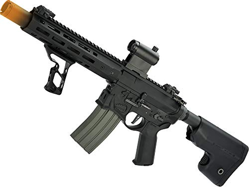 Evike EMG/Sharps Bros Warthog Licensed A-10 Warthog Full Metal M4 Airsoft AEG Rifle (Color: Black / 10