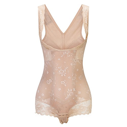 KSKshape Lace Body Shaper Open Bust Shapewear Tummy Slimmer Bodysuit for women