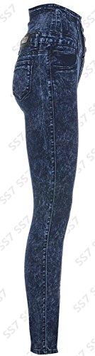 6 Femmes Jeans Taille Bleue Pierre 14 Taille Skinny Dlav Haute wZfwA