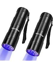 morpilot Black Light Flashlight, Portable Handheld Blacklight Small UV Lights 12 Led 395nm Mini Light Torch Detector for Pets Urine and Stains