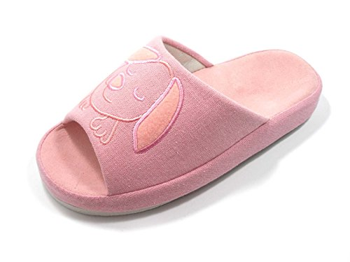 Sizes Indoor knp26001s House Footbed Knp And Colors Available Variety Slippers Four Pink Slipeprs Comfy In Cotton Az6nnXqU