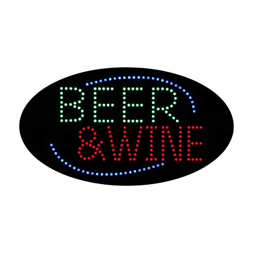 LED Beer Bar Wine Liquor Spirits Open Light Sign Super Bright Electric Advertising Display Board for Pub Club Bistro Business Shop Store Window Bedroom (HSB0622, 19 x 10 inches)