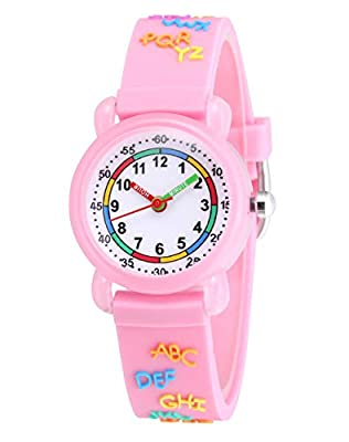 Jewtme Kids Time Teacher Watches 3D Cute Cartoon Silicone Children Toddler Wrist Watches Gift for 3-7 Year Old Boys Girls Little Child by Jewtme