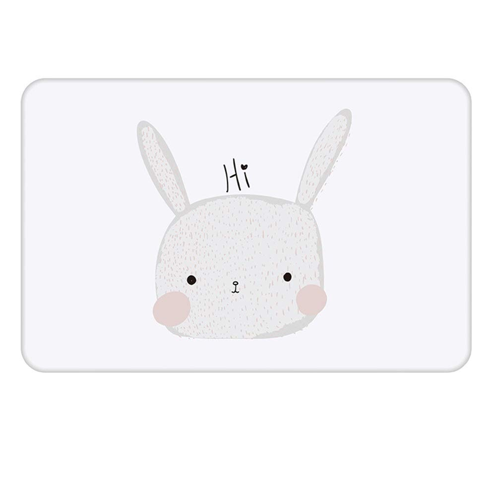 ETH Bunny Pattern Natural Diatomaceous Earth Bath Mat Absorbent Water Quick-Drying Does Not Fade Furniture Versatile Brushed Surface Mat (Size : 3545)