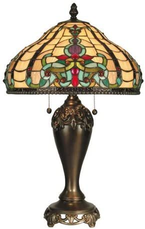 Dale Tiffany TT60203 Topaz Baroque Table Lamp, Antique Golden Sand