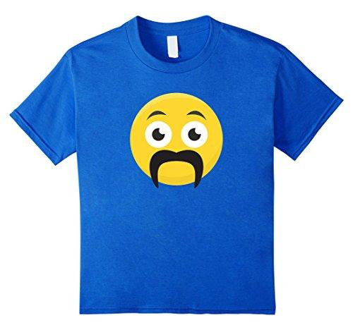 Kids Smiley With Fu Manchu or Horseshoe Mustache T-Shirt 10 Royal Blue - Fu Manchu Beard