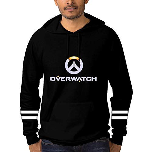 Pullover Icon_OW Hoodie for Men Boys Sweatshirts Youth Hoody Hooded with Pockets Black XL