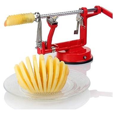 3in1 Apple Slinky Machine Peeler Corer Potato Fruit Cutter Slicer/Red