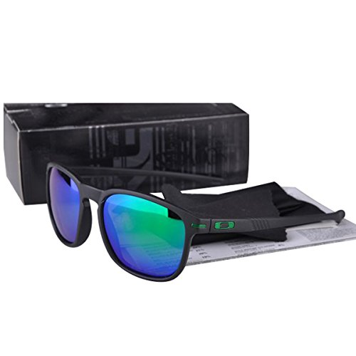 Outdoor UV protection Stylish Enduro Sunglasses Matte Black Frame Green Lens OO - Cheap Frogskin Sunglasses