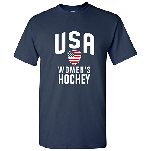 UGP Campus Apparel USA Women's Hockey - Winter Sports Games Unisex T Shirt - X-Large - - Usa Woman