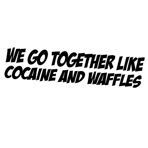 Funny Cocaine Waffles Sticker Decal product image