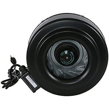 Hurricane Inline Fan - 10 Inch   780 CFM   High Performance, Commercial Grade Inline Fan - Ventilation Fan - ETL Listed