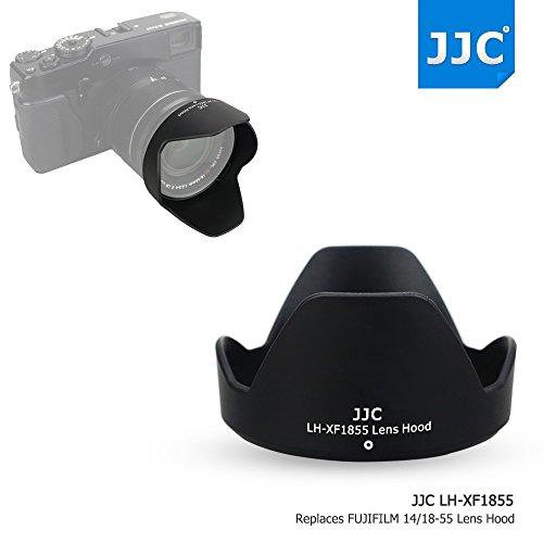 JJC ABS Reversible Black Camera Lens Hood for Fujifilm FUJINON XF 18-55mm F2.8-4 R LM OIS & FUJINON XF 14mm F2.8 R Lens as Fujifilm 14/18-55 Lens Hood on X-Pro2 X-Pro1 X-T2 X-T1 X-T20 X-T10 X-E2S (Fuji X Pro1 With 18 55 Lens)