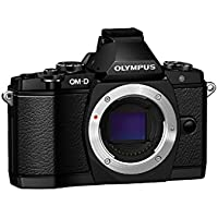 Olympus OM-D E-M5 Elite Mirrorless Micro Four Thirds Digital Camera with FL-LM2 Flash (Black)