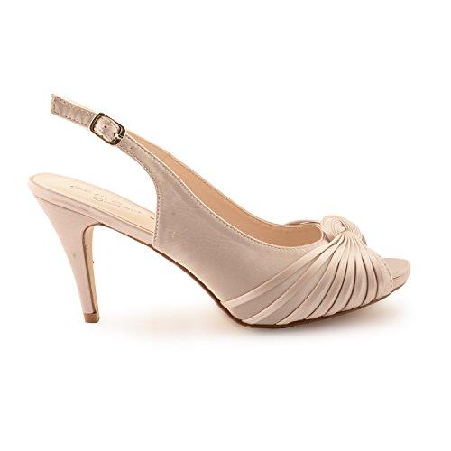 Footwear Sensation - Sandalias de vestir para mujer Beige - champán